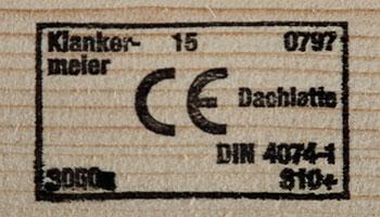 Foto eines CE Stempel